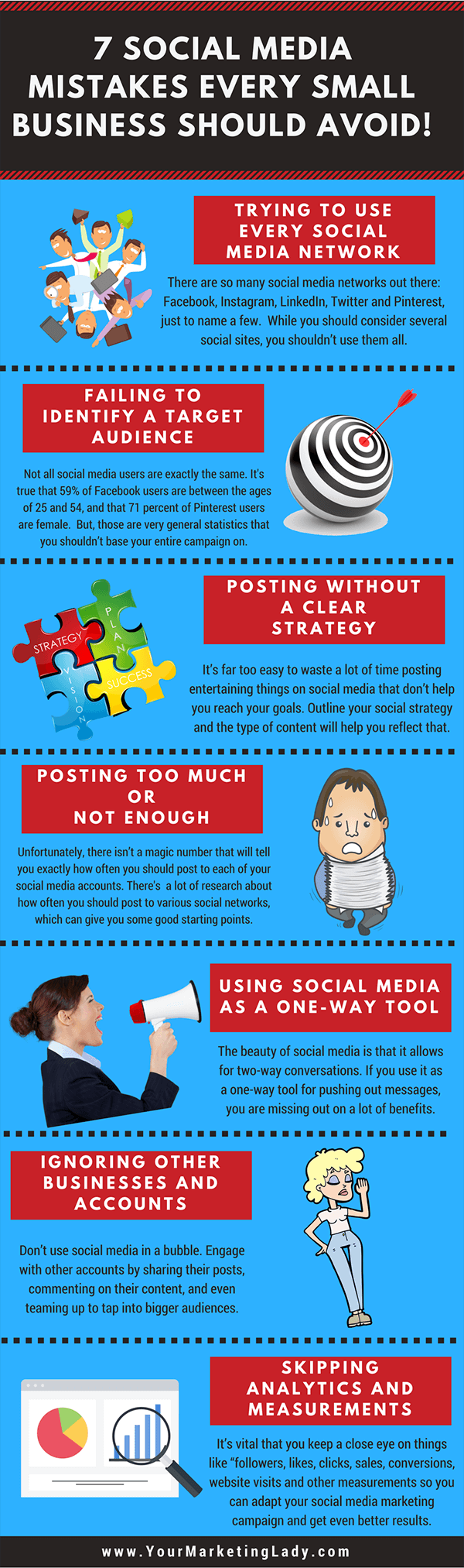 Infographic: Common mistakes to avoid in your social media strategy